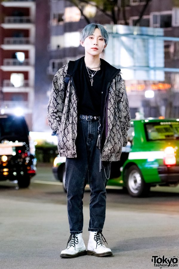 Snake Print Harajuku Streetwear Style w/ Dig Your Own Grave, Another Youth, Dr. Martens & Rosen Kreuz