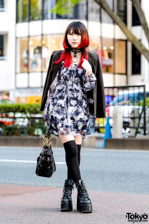 Harajuku Girl w/ Pink Hair, Vintage Blazer, Ghost of Harlem Dress, Demonia, Gotha Gotha & Vivienne Westwood