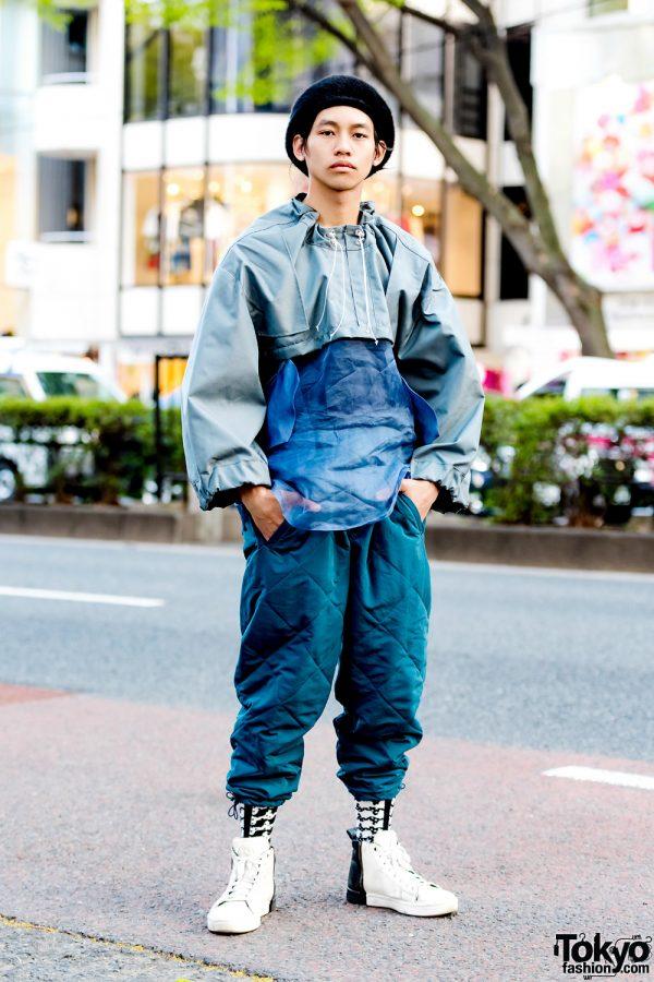 Ifeoma Cropped Jacket & Brandblack Quilted Pants Harajuku Streetwear Style