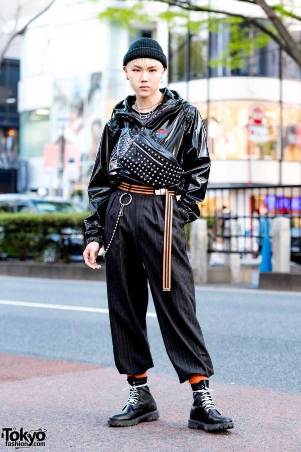 Korean Model in All Black Tokyo Street Style w/ Open The Door, Faith Tokyo & Ambush