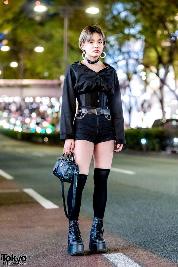 Japanese Streetwear Style w/ Nadia Harajuku Corset, M.Y.O.B. NYC, Demonia, Kenzo & MCM