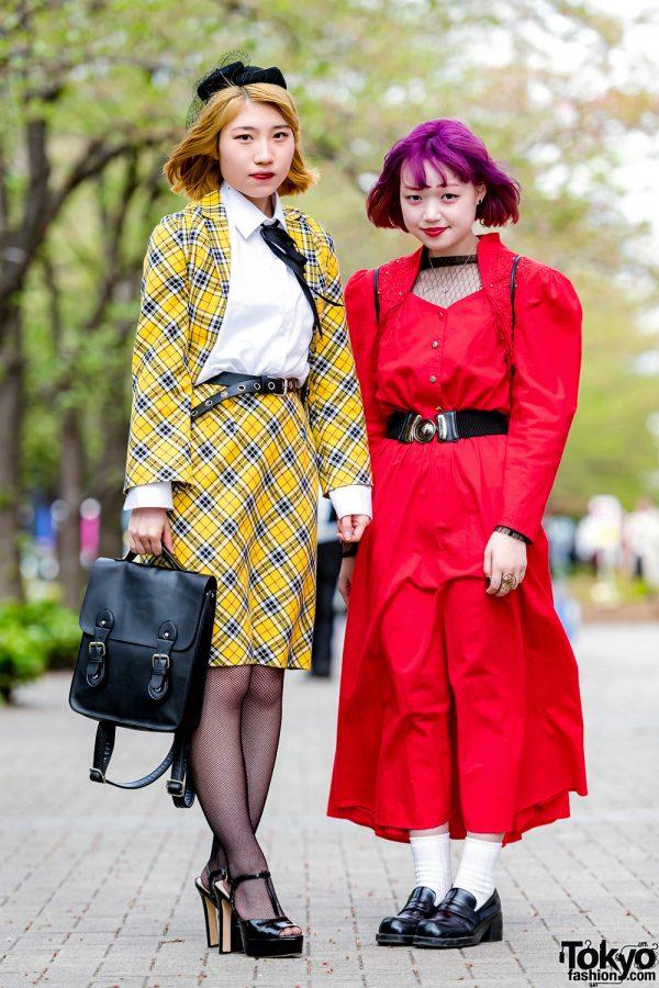 Yellow & Red Tokyo Street Styles w/ Punk Cake, Moschino & WC Harajuku
