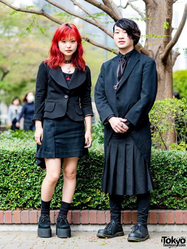 All-Black Harajuku Streetwear Styles w/ Comme des Garcons & Vivienne Westwood