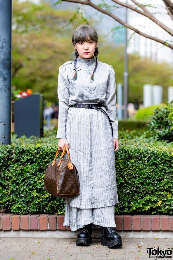 Japanese Hand-Me-Down Silver Street Style w/ Louis Vuitton & Yosuke