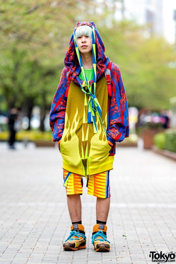 Colorful Tokyo Streetwear w/ Bernhard Willhelm Fashion & Bernhard Willhelm Sneakers