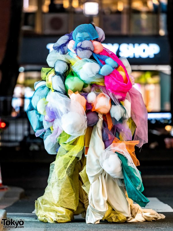Avantgarde Handmade Harajuku Street Style Featuring Colorful Sculptural Fashion
