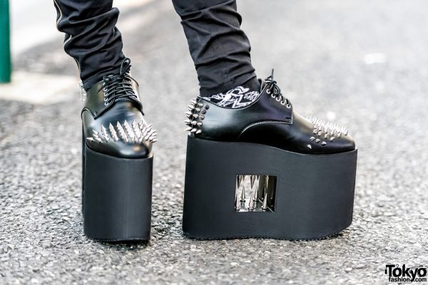 Platform Spike Loafers Side View