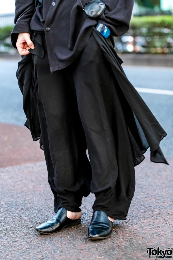 Minimalist Japanese Streetwear Style W Green Hair Yohji