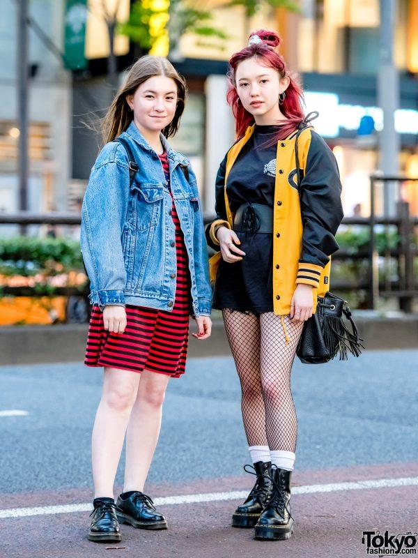 Tokyo Grunge Street Style w/ Levi's, Rose Bud, Dr. Martens, X-girl, American Eagle, Global Works & Quatorze