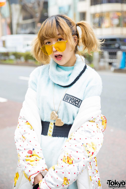Harajuku Girl Trio Street Styles w/ Orange Satin Pants