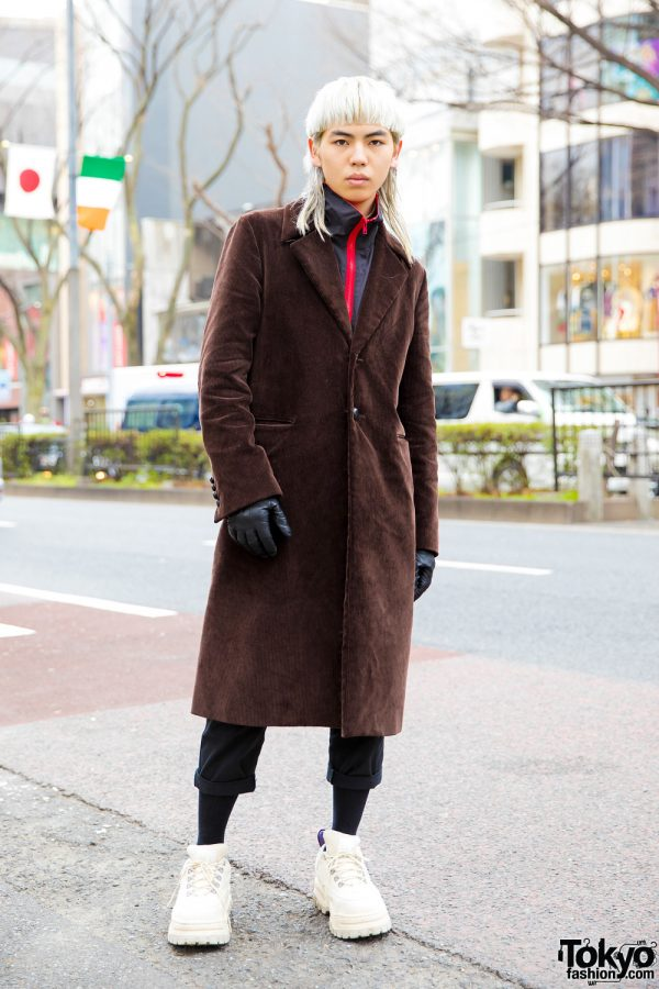Harajuku Guy w/ Mullet Hair & Minimalist Style w/ John Lawrence Sullivan, Acne Studios, Sub-Age & Eytys