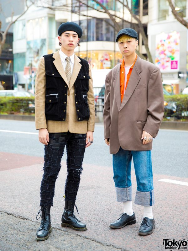 Japanese Menswear Street Styles w/ Alexander McQueen, Giorgio Armani, Dr. Martens, Ralph Lauren, Gucci & TokyoHumanExperiments