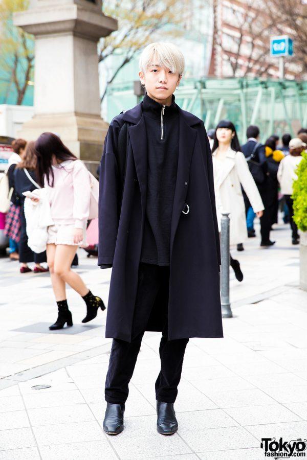 Minimalist All-Black Harajuku Menswear Street Style w/ Never Mind the XU, Studious, Maison Margiela, Lad Musician & Chrome Hearts