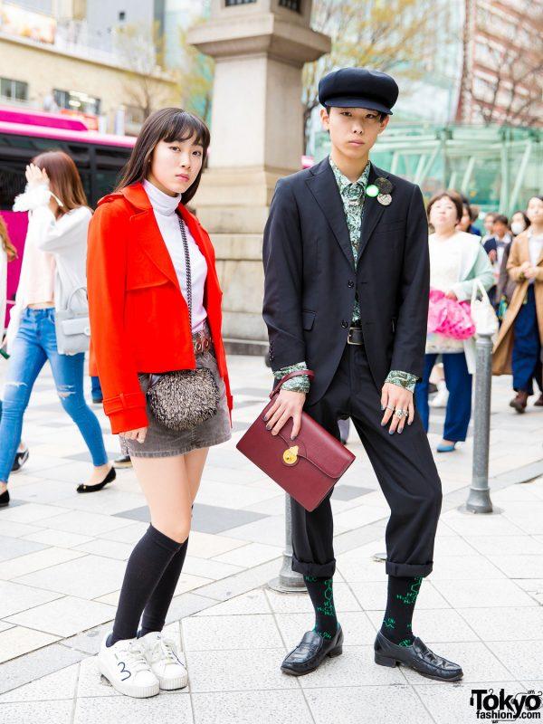 Harajuku Teens in Vintage Streetwear Styles w/ Y's, White Mountaineering, Burberry, Chanel, Puma x Fenty & Faith Tokyo