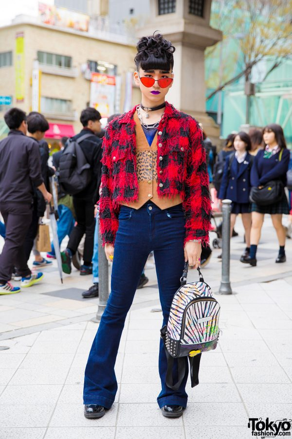 Harajuku Guy in Eclectic Streetwear Style