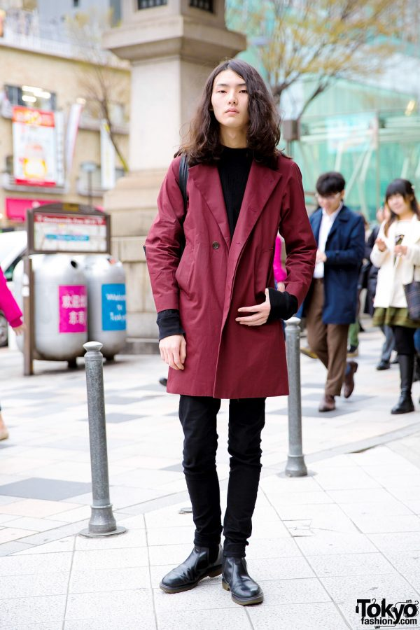 Japanese Male Fashion Model Street Style w/ LAD Musician, Hare, UNIQLO & Dr. Martens