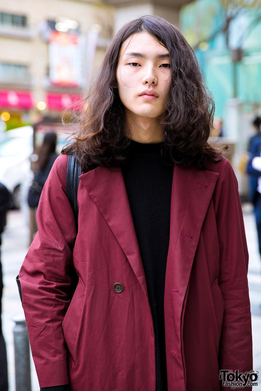 japanese male fashion model street style w   lad musician  hare  uniqlo  u0026 dr  martens