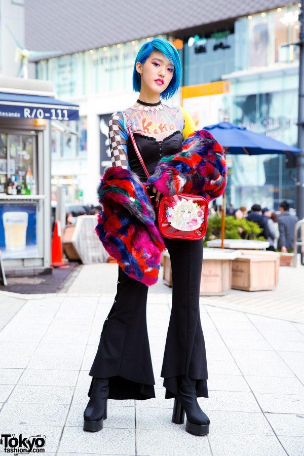 Harajuku Street Style w/ Prega Faux Fur Jacket, UNIF x Kiko, Jenny Fax x Macoto, Jeffrey Campbell & JBCG