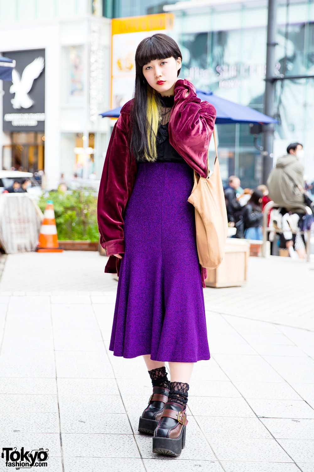 Japanese Fashion Model Tsukina In Minimalist Style W Cropped Jacket High Waist Pants Booties