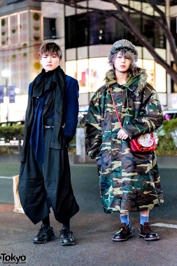Tokyo Menswear Street Styles w/ Comme des Garcons, Christopher Nemeth, Julius, Jenny Fax x Macoto & Belly Button