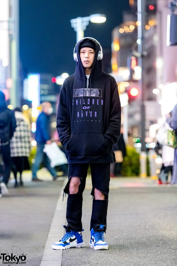 Black Casual Street Style w/ Venturer, Nike, Undercover, Beats by Dre & Faith Tokyo