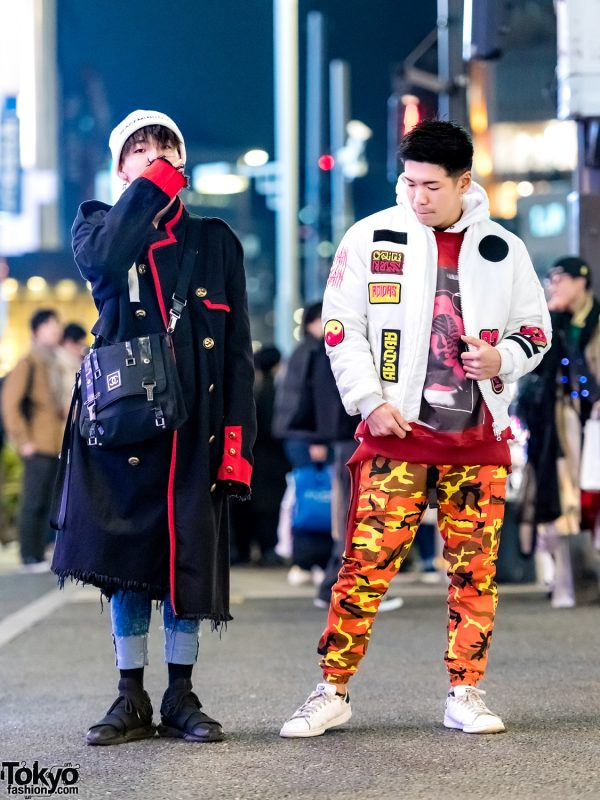 Tokyo Streetwear Styles w/ Orange Camo Pants, Ambush Coat, Chanel Bag & Y-3 Shoes