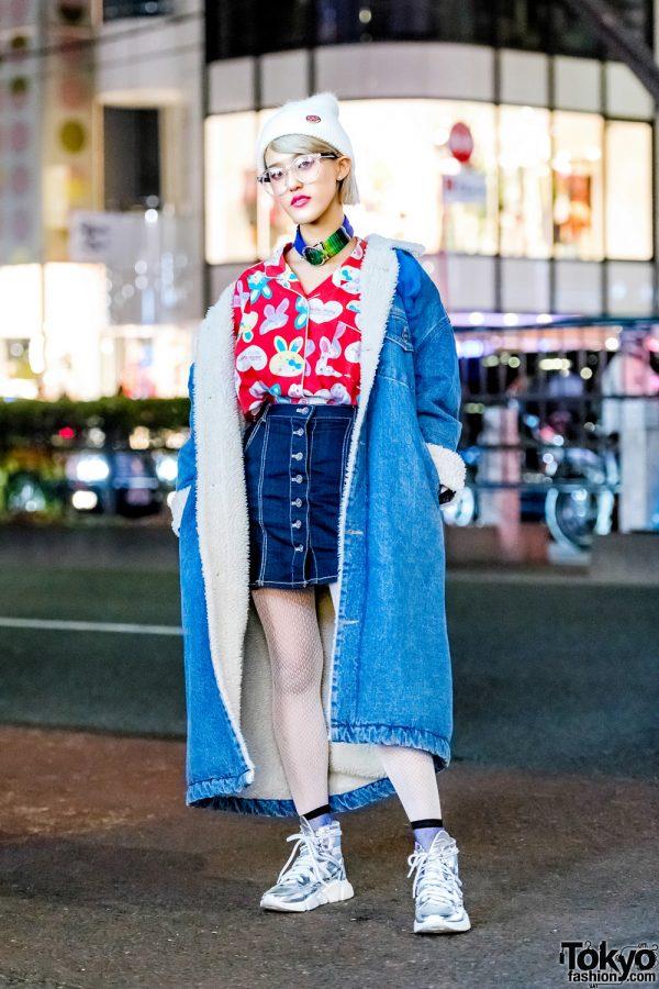 Rikarin in Denim Street Style w/ Babypink, Jeffrey Campbell, Aymmy in the Batty Girls, Kinji & Paris House