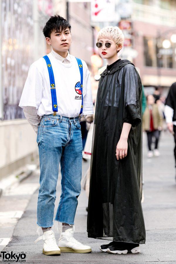 Harajuku Styles w/ Gosha Rubchinskiy & Suspenders vs Sheer Coat & Round Glasses