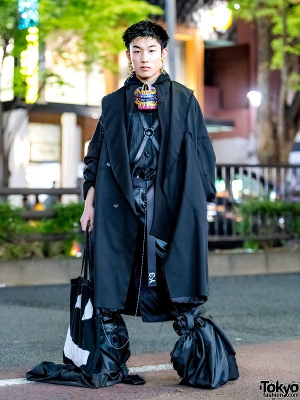 Dark Avant-Garde Japanese Streetwear w/ Sulvam, Y-3, LAD Musician, Dog Harajuku & Comme des Garcons Homme Plus