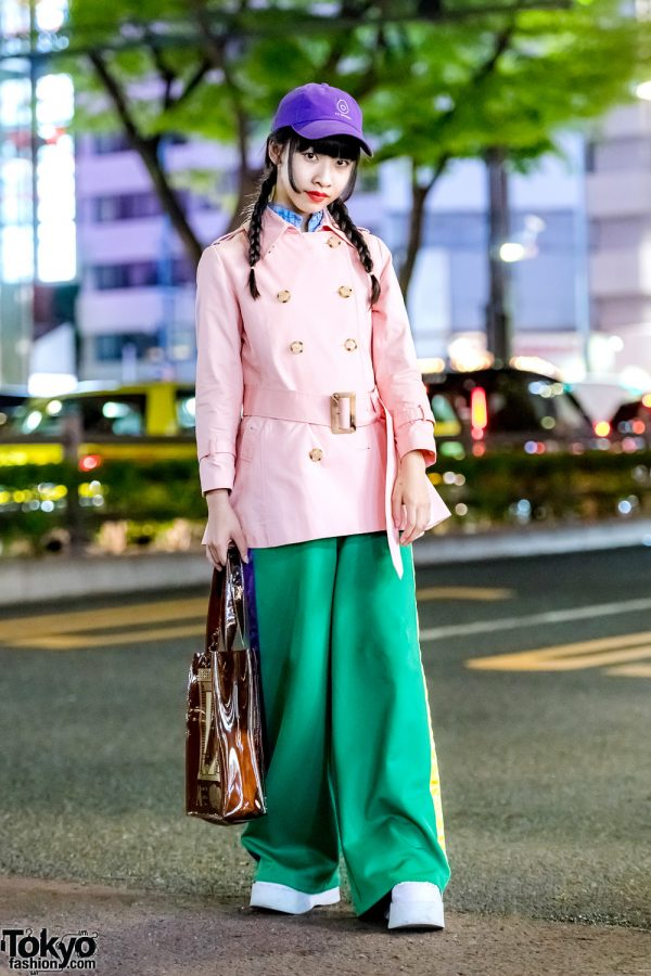 Harajuku Girl Street Style w/ San To Nibun No Ichi, RRR by Sugar Spot Factory & Marte See-Through Tote