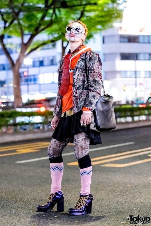 Japanese Avant-Garde Street Style w/ Candy Stripper, KTZ, Telfar & Creative Face Paint
