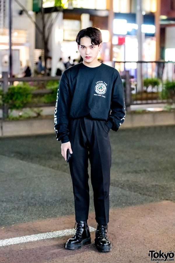 All Black Street Style in Harajuku w/ Andersson Bell, Richardson, Never Mind the XU & Dr. Martens