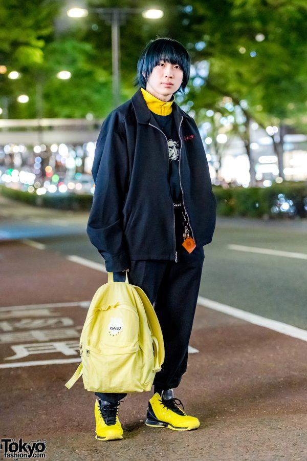 Two-Tone Streetwear Style w/ Kidill Shirt, Adidas Colorblock Sneakers & Kenzo Backpack