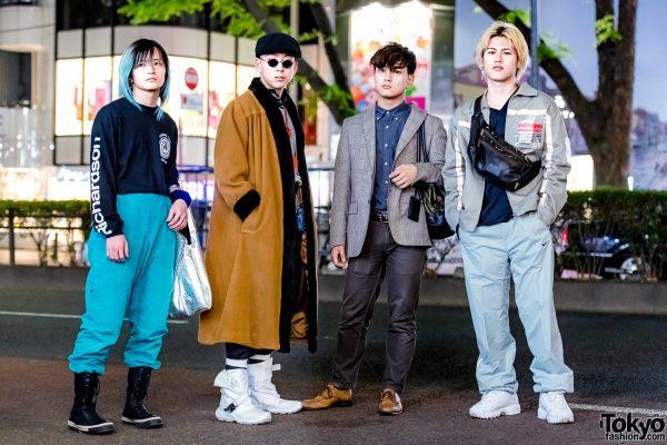 Harajuku Menswear Street Styles w/ Richardson Sweatshirt, Yves Saint Laurent Maxi Coat, Henry Cotton's Blazer & FILA Sneakers