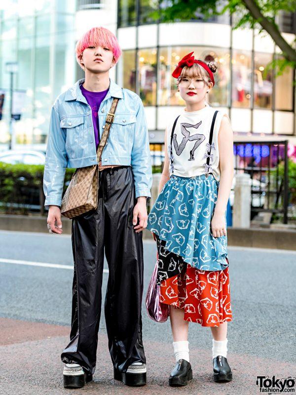 Harajuku Duo in Eclectic Street Styles w/ WEGO, GlamHate, Dressedundressed, Gucci, Dog Harajuku, Pameo Pose, UNIF & Bon Bricolage