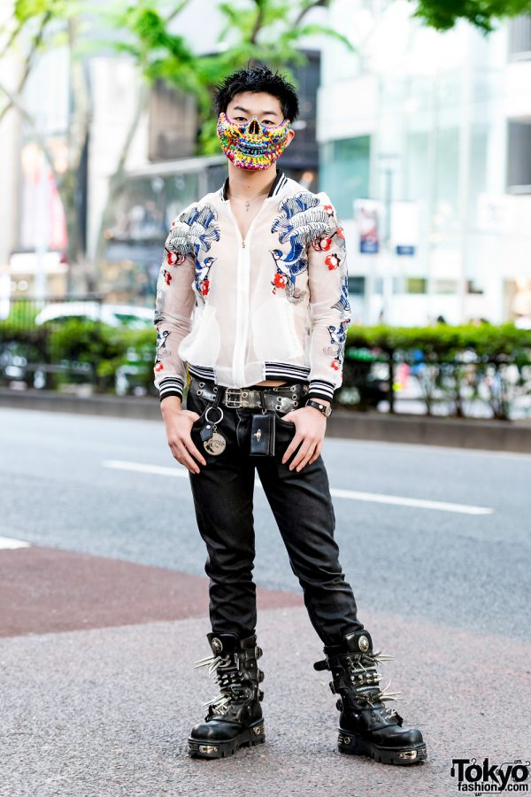 Punk-Infused Streetwear w/ Colorful Mask, Vintage Sukajan, John Lawrence Sullivan, Vivienne Westwood & New Rock Spike Boots
