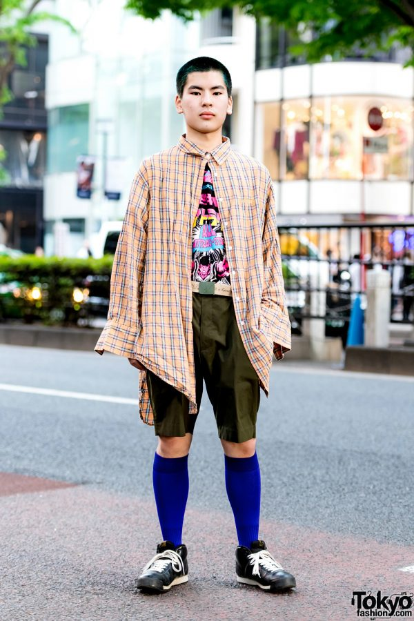 Eclectic Tokyo Street Style w/ Punyus, Ebichu T-Shirt, Nike & Yu-Gi-Oh!