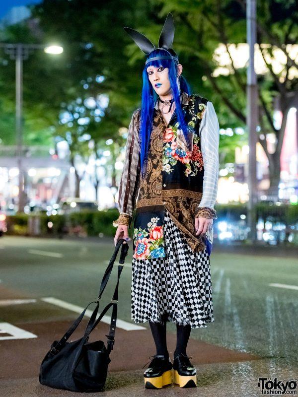 Blue Hair, Bunny Ears & Avant-Garde Harajuku Fashion w/ Comme des Garcons, Yohji & Vivienne Westwood