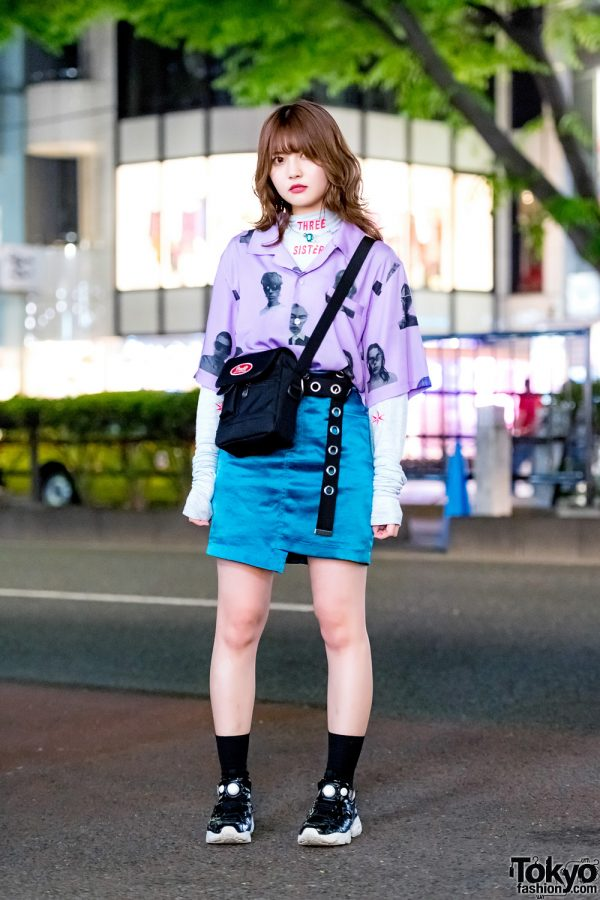 Chic Layered Street Style in Harajuku w/ Pameo Pose, Three Sisters, Faith Tokyo, 8 Seconds, Baby Don't Cry & Reebok Insta Pump Fury Sneakers