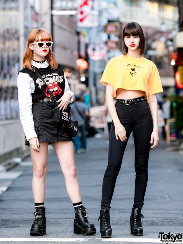 Harajuku Girls Streetwear w/ More Than Dope, Never Mind the XU, H&M, Rolling Stones & Bershka