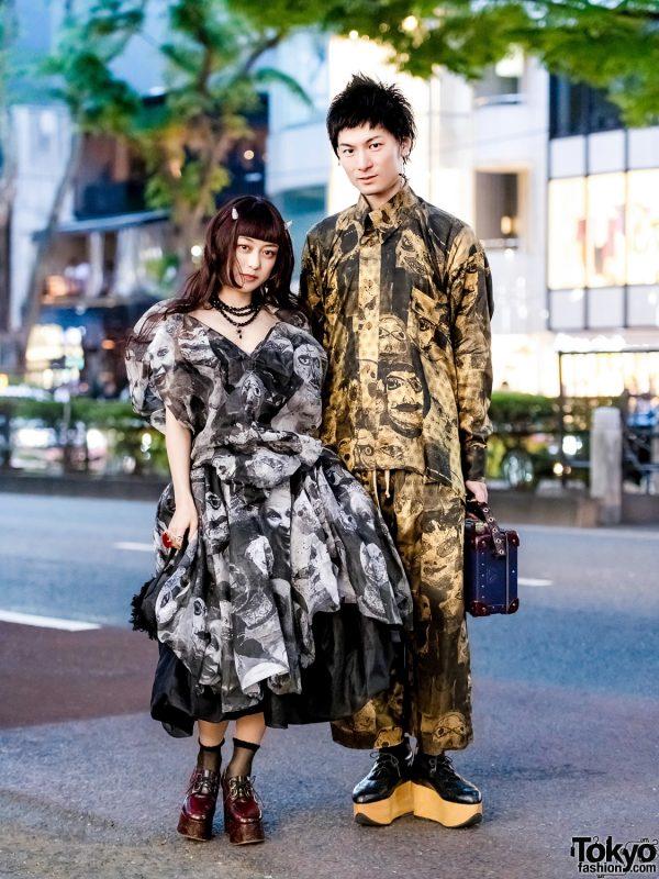 Matching Vivienne Westwood Print Streetwear Styles in Harajuku