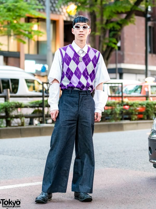 Japanese Hair Stylist in Vintage Street Style w/ Loverboy, Spectusshoeco. & Dolce&Gabbana