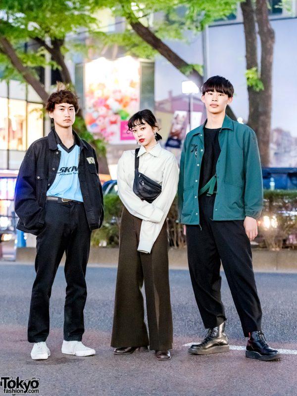 Harajuku Trio's Minimalist Street Styles w/ Kiss, Converse, Toga, Skin, Yohji Yamamoto, Funktique & Anki