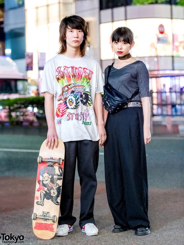 Casual Street Styles in Harajuku w/ Dickies, Stussy, Nike, Thrasher, Dr. Martens & Toga