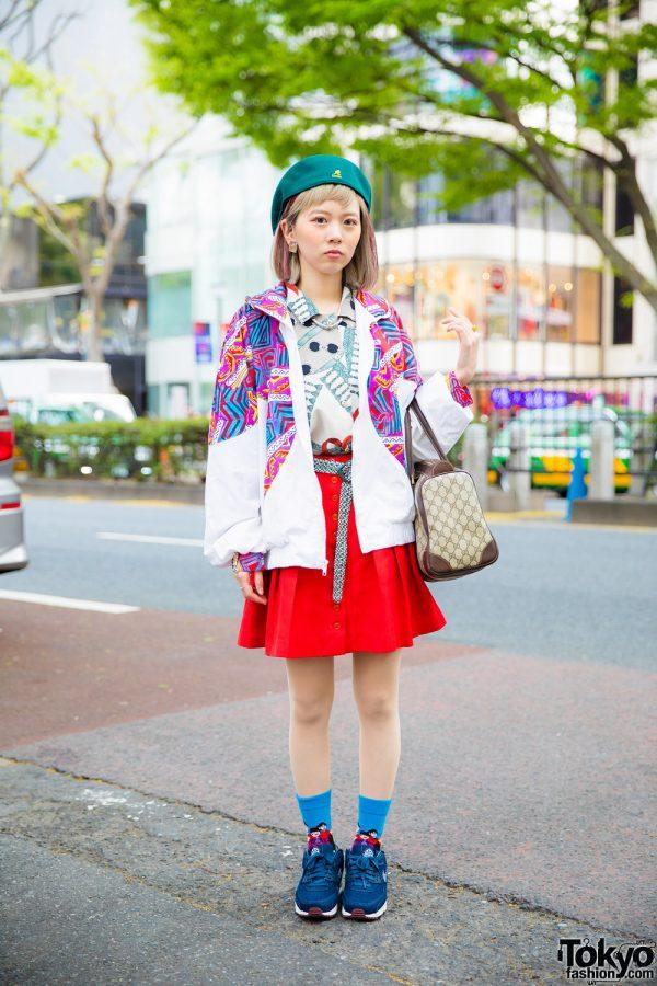 Harajuku Girl in Colorful Vintage Fashion w/ Gucci, Nike, Kangol & Happy Socks