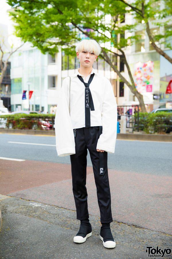 Monochrome Japanese Streetwear Fashion w/ Blanc de Noirs, Ermenegildo Zegna, Y's, Rick Owens & Yohji Yamamoto