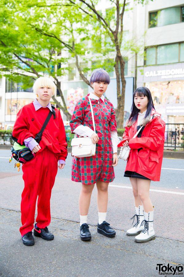 All-Red Harajuku Vintage Streetwear Styles w/ Kinji, Puma, Issey Miyake, Nike, Yummy Mart, Tokyo Bopper & Dr. Martens