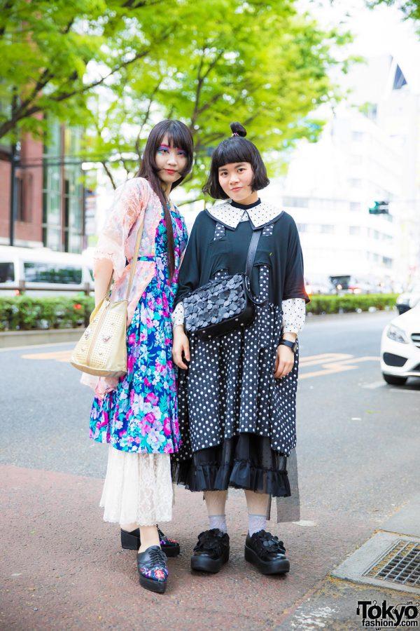 Harajuku Girls' Street Styles in Grimoire, Ewer, Mural, Nude Trump, Envol Avec Ning & Tokyo Bopper