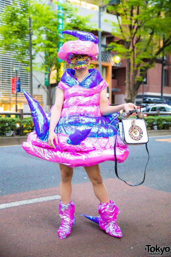 Avant-Garde Handmade Inflatable Japanese Streetwear in Harajuku