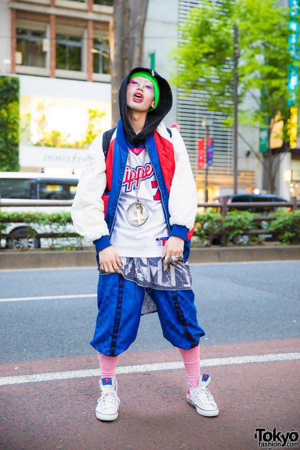 Extreme Tokyo Streetwear Style w/ Painted Face, Fenty Puma, Vejas Kruszewski, Converse & Vivienne Westwood